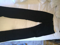 "34"" Stretch Skinny Black Jeans."