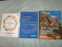 x3 Environment and Sustainability Uni books