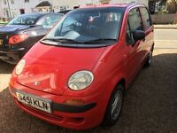 DAEWOO MATIZ WITH ONLY 1 PREVIOUS OWNER AND ONLY 29000 MILES ALLOY WHEELS RADIO MOT TIL MAT 2018 X X