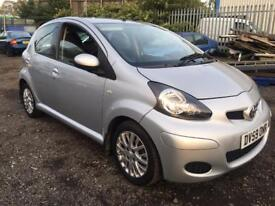 """TOYOTA,AYGO,PLATINUM,VVT-I,1.0cc,5DR,HATCHBACK,5 SPEED MANUAL,67BHP,2009(59),SILVER"""