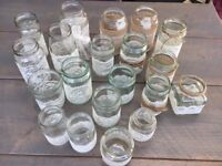 20 Ivory Lace with String/Jute Decorated Jars