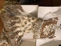 Cream and bronze wedding lengha
