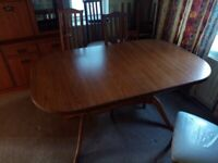 Cherished dining room table & six chairs
