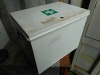 Enameled metal medical storage boxes