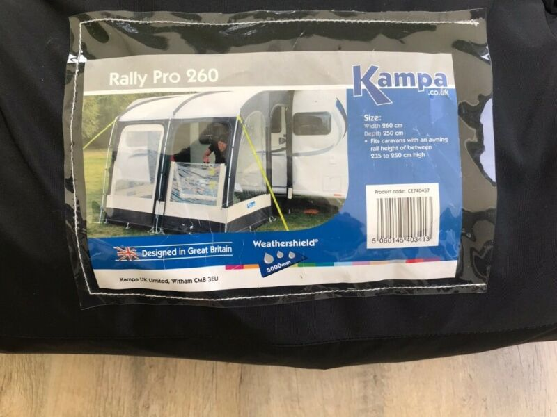 Kampa Rally Pro 260 Caravan Awning for sale  Branston, Lincoln