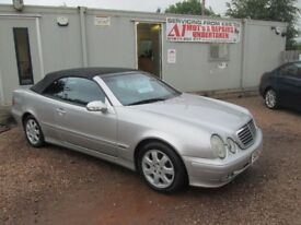 MERCEDES CLK 2002 52 2.0 LTR PETROL ONLY 52000 MILES FULL HISTORY 1 YEAR FRESH MOT WARRANTIED!!!