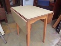 Drop Leaf Table Light Topped Square Delivery Available