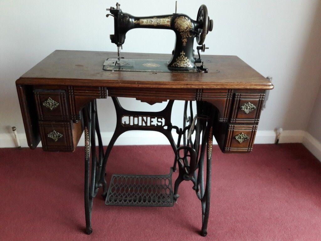 Sensational Antique Jones Sewing Machine On Treadle Table In Woodthorpe Nottinghamshire Gumtree Interior Design Ideas Oteneahmetsinanyavuzinfo