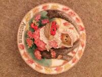 Cherished teddy plates