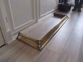 Antique solid brass fireplace hearth fender