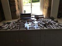 Vintage tools and tool box
