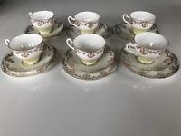 China Tea Set 22kt gold edged