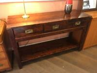 Console campaign side table with drawers by Laura Ashley. Lovely colour, quality solid wood vgc
