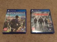 Watch Dogs 2 & Tom Clancy's The Division PS4