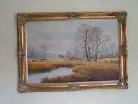 Oil Painting in ornate frame
