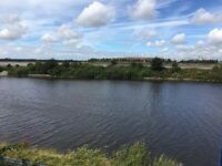 Water front luxury apartment with stunning views across Manchester ship canal & the river Mersey,