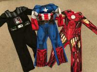 3 x Superhero costumes: Captain America, Iron Mam and Darth Vader