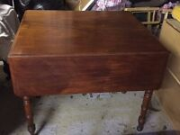 Victorian Mahogany Dining (Drop Leaf) Table