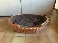 Prestige Wicker Dog Bed Basket, Large