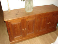 Pine sideboard/ credenza / cupboard