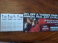 X6 Thorpe Park Tickets July 24th