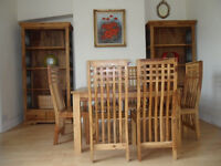 Complete sheesham wood dining table & 6 chairs plus 2 dressers