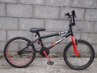 black bike bmx style 20''