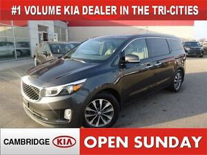 2016 Kia Sedona SX+ / LEATHER / POWER DOORS / 63KM