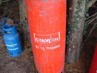 Calor Gas 'Empty' 47kg Propane gas bottle, can be delivered