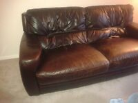 Barker and Stonehouse Leather 2 Piece Suite