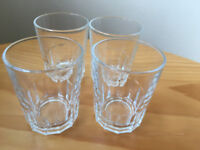 4 vintage clear shot, whisky glasses. Made in France. Excellent condition. £2.50 the lot.