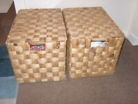 2 Large Wicker Toy boxes or Linen Storage