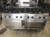 ZANUSSI GAS COOKER DOUBLE OVEN - Stainless Steel with 8 Burners