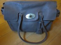 Very Used Grey Mulberry Bayswater Handbag with Dustbag