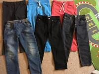 6 pairs boys trousers/joggers some new without tags!