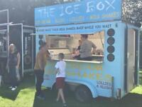 Ice cream trailer. Catering trailer. Milk shakes.