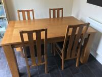 Oak Table, 6 Chairs