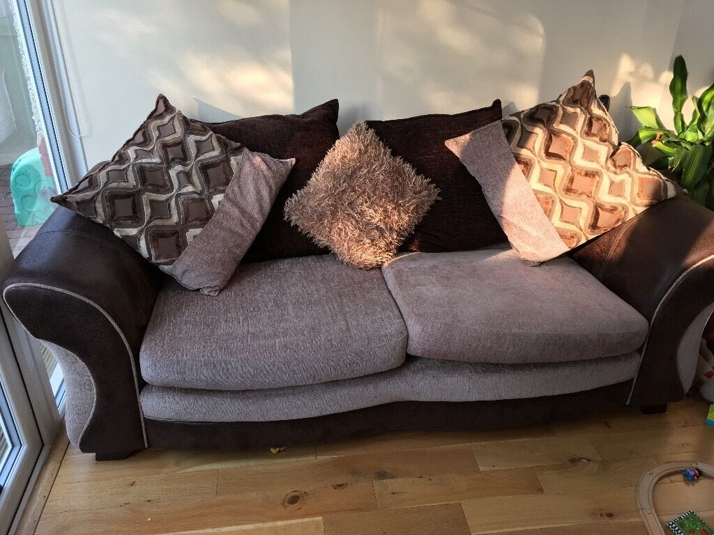 Dfs Sofa With Footstool And Replacement Chaise Longue Cushion