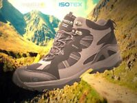 Regatta Mens Crossland Mid Waterproof Hiking Boots Black/Iron Size 12