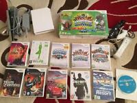 Nintendo Wii console and games.
