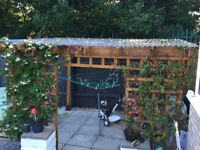 Pergola for sale with corrugated roof