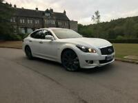 2012 Infiniti M30d S , 3.0TD GT auto , TOP OF THE RANGE in Moonlight White Gloss