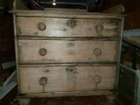 Antique pine chest draws