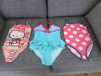 GIRLS SWIMSUITS - AGE 7-8 (X2) AND 8-9 (X1) - GC
