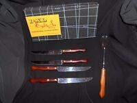 Vintage dinner knife,fork & serving spoon sets