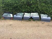 Bmw e46 touring blue rear tailgate, rear bumper, all 4 doors cheap look now!