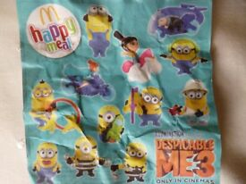McDonalds Despicable Me 3 Happy Meal Toys. (Full set of 12)