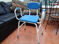 Perching stool, adjustable height, good condition