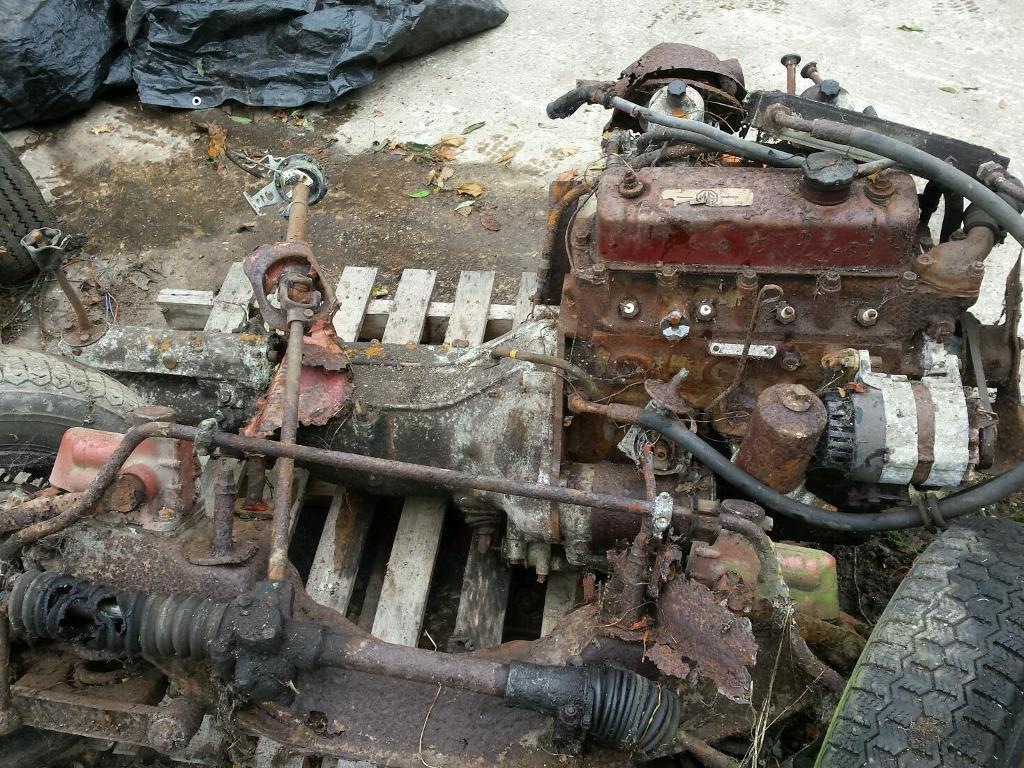 Mg b gt gearbox, engine and rear diff.