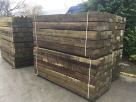 X50 wooden railway sleepers 190x90x2400mm Pressure Treated